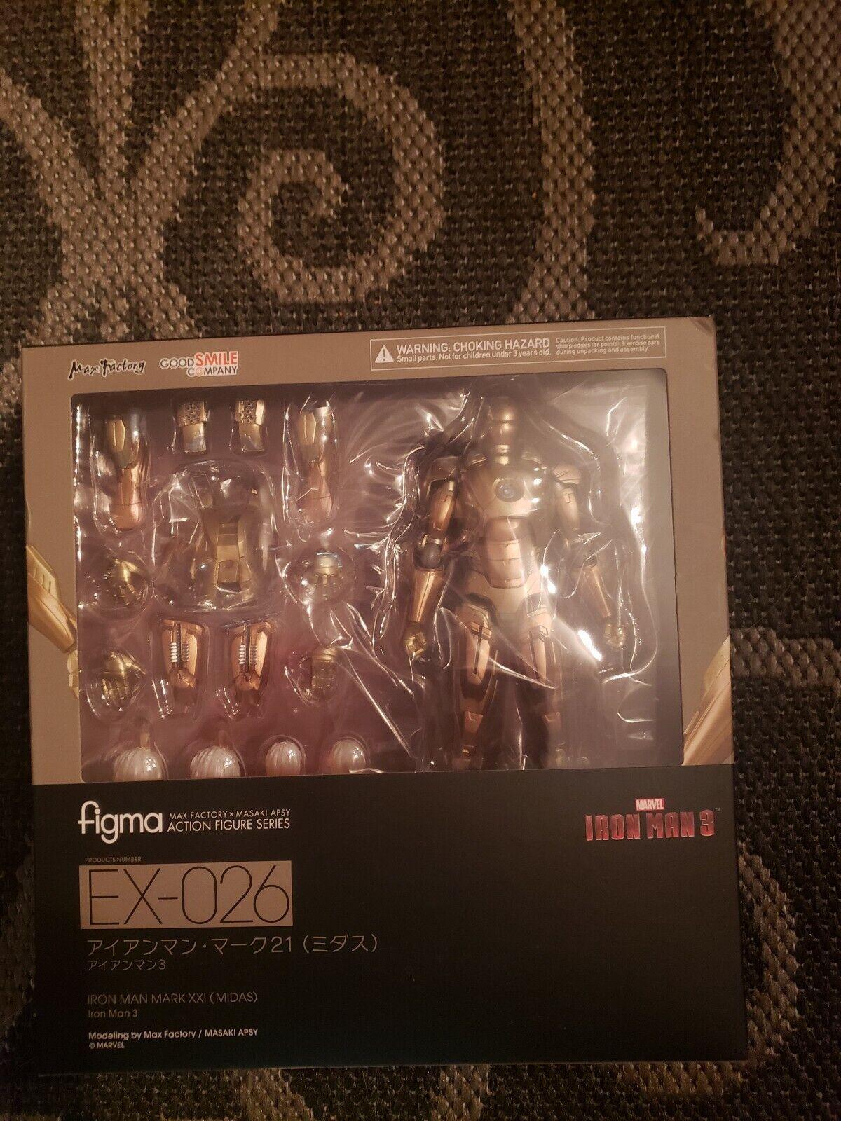 NEW figma EX-026 Iron Man 3 Iron Man Mark XXI (Midas) Figure Good Smile Company
