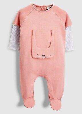 Next Strampler Schlafanzug Pyjama Overall Einteiler Hase Häschen Rosa Gr 80 86