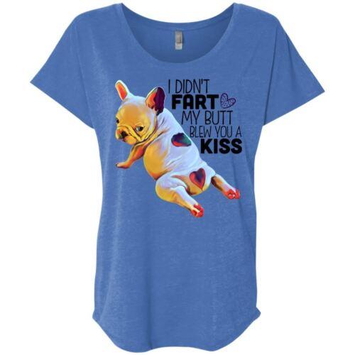 Funny Frenchie French Bulldog Dolman Sleeve T-shirt
