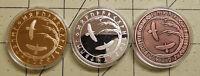 Viking Tree Of Life Ravens Runes Runic Coin Lot X 3 Good Luck Talisman