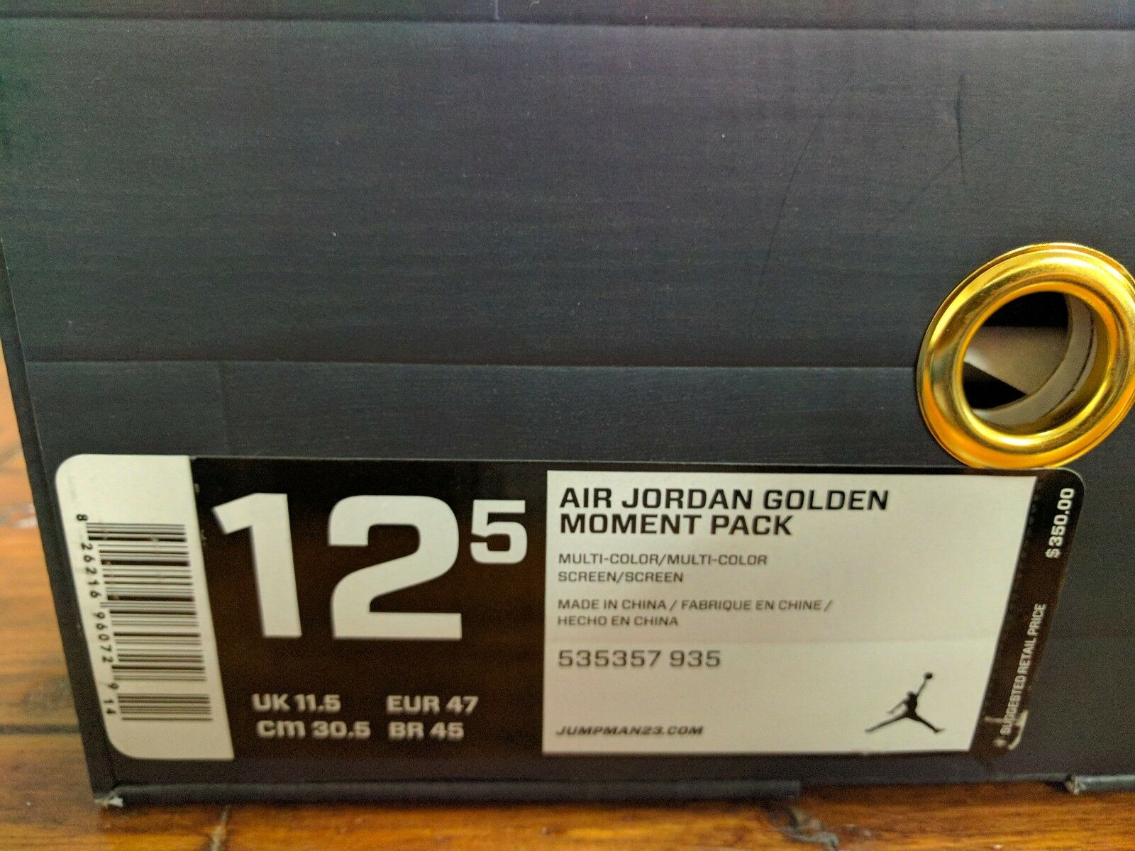 Jordan 6 7 VI VII GMP Gold Moment Package 2012 Rare Limited size 12.5 535357 935