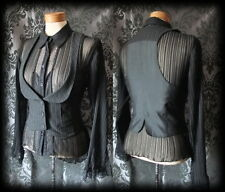 Goth Black Pinstripe Fitted DESOLATION Corset Waistcoat 12 14 Steampunk Vintage