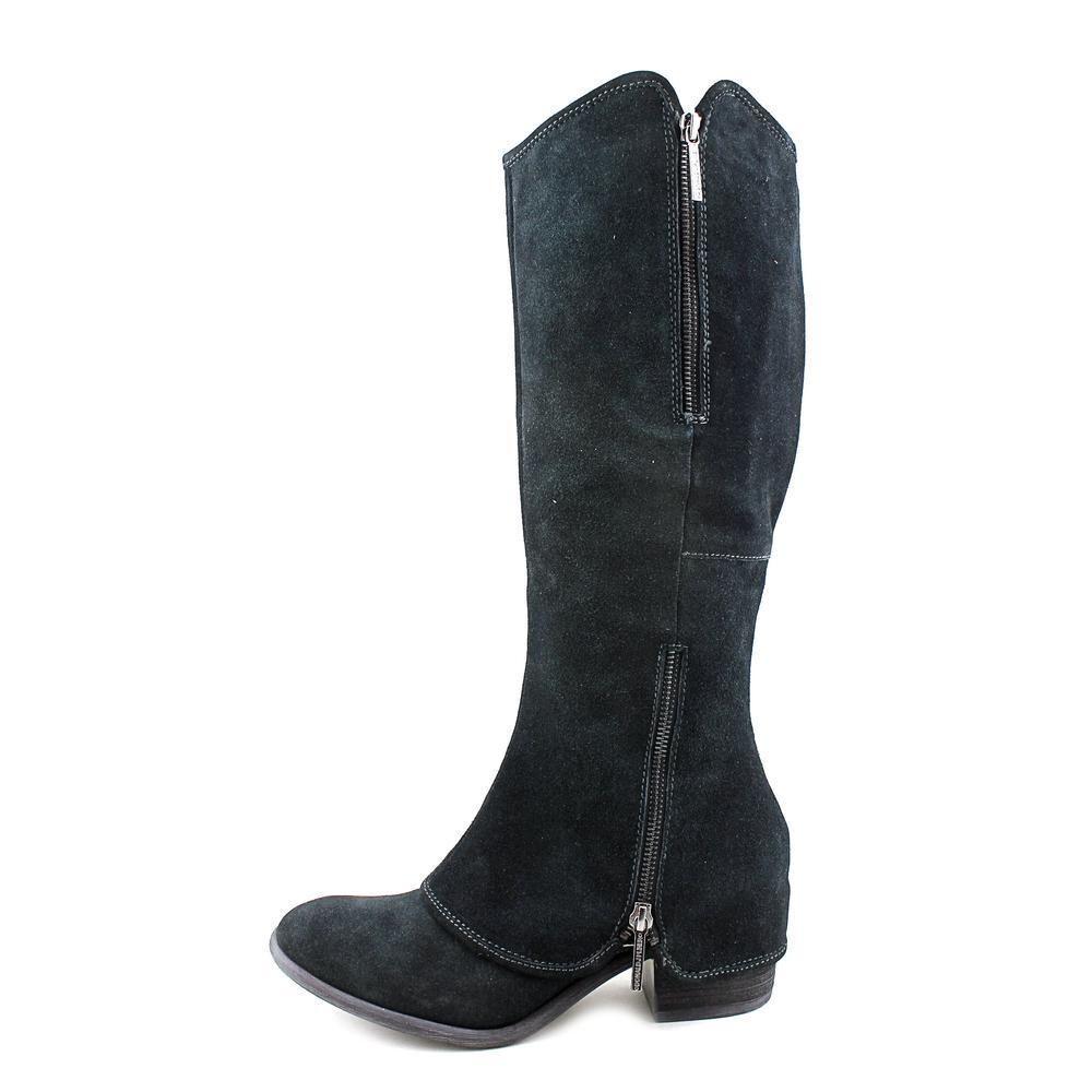 NEW Donald J Pliner Devi3-R2 Boot Suede Leather Knee High Black Women's 5  398