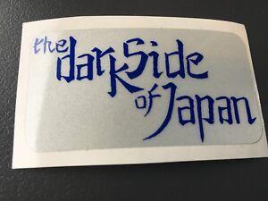 PEGATINA-RETRO-REFLECTANTE-DARK-SIDE-OF-JAPAN-CASCO-MOTO-SCOOTER-GRIS-AZUL