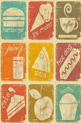 Retro Metal Tin Signs Bubble Gum Vintage Plate Candy Shop Art Wall Decor Poster