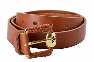 Just Cavalli Women's Brown 100% Genuine Leather Belt US 36 IT 90