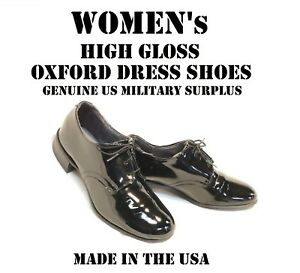 5 1/2 E WOMEN'S US MILITARY HIGH GLOSS BLACK UNIFORM DRESS SHOES HONOR  GUARD | eBay