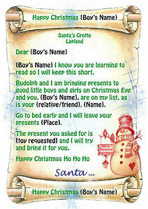 Young boys tinytot letter from santa father christmas with north young boy 039 s tinytot letter from santa spiritdancerdesigns Choice Image