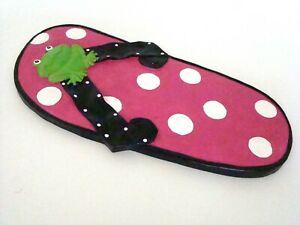 GANZ-Flip-Flop-Stepping-Stone-Colorful-Hot-Pink-with-FrogStrap-14-75-in