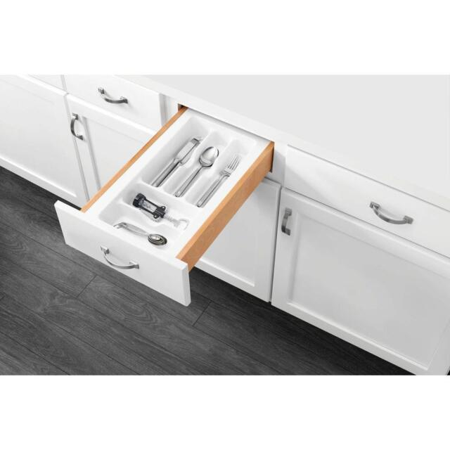Back To School Rev A Shelf Small White Cutlery Tray Drawer Insert Ebay