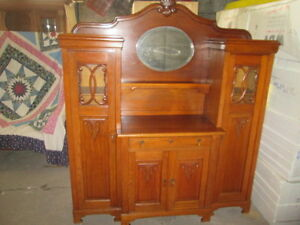 tolles altes buffet sideboard um 1910 20 massiv eiche wohnfertiger zustand ebay. Black Bedroom Furniture Sets. Home Design Ideas