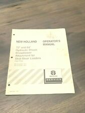 New Holland 72 84 Hydraulic Snowblower Attach For Skid Steer Operator Manual