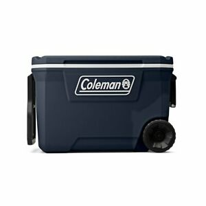 Coleman 316 Series 62-Qt Wheeled Cooler Blue Nights Stain-Resistan