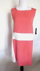 Zara-Pink-White-Color-Solid-Sleeveless-Dress-Size-L