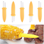 10Pcs-Jumbo-Corn-on-the-Cob-Holders-Fork-ngs-Corn-Server-BBQ-Skewer miniature 1