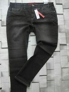 Sheego-Jeans-Trousers-Stretch-Size-42-to-58-Lana-Black-329-107-857-New