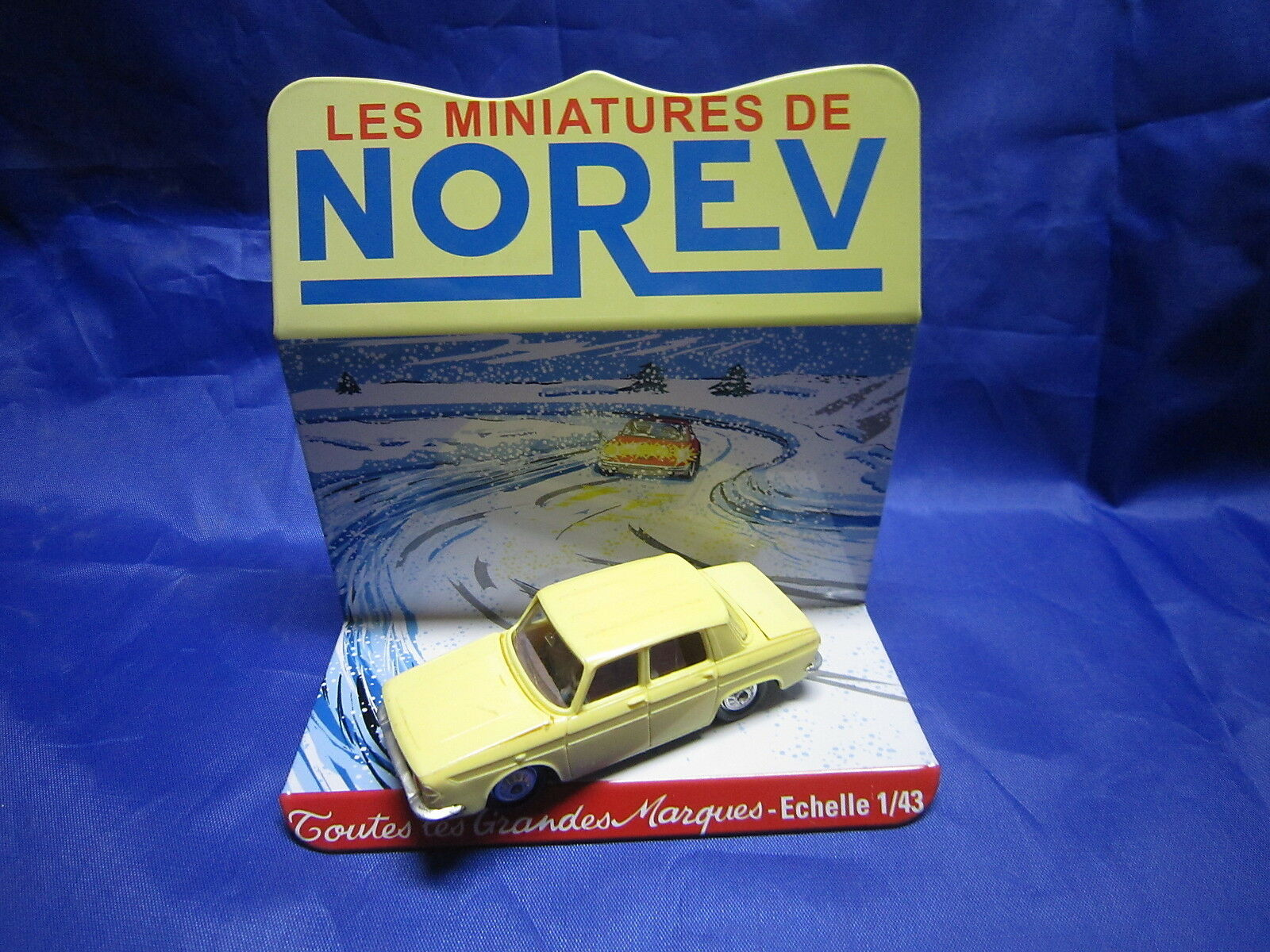 DV6265 NOREV RENAULT 10 R10    BERLINE PLASTIQUE yellow PALE Ref 9 1 43 TBE 9332e5