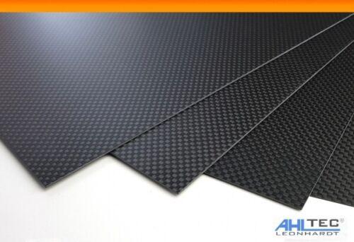 Carbon GF3 Black Platte 1,5mm / CFK GFK Kohlefaser / LEINEN seidenmatt /Größe w
