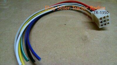 Kubota Tractor Radio Harness Plug Male CD Player Stereo RTV 9 Pin Wire SVL  | eBayeBay