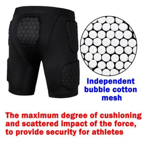 Details about  /Men Compression Quick-dry Protector Short Pants  Crash Sport Shorts Pads Shorts