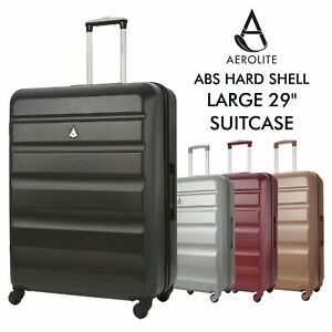 Aerolite-Large-29-034-4-Wheel-ABS-Hard-Shell-Checked-Check-In-Hold-Lugagge-Suitcase