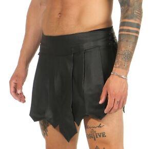 Gladiator Rock Kilt Echt Leder  Schnürung seitlich B Legionär Clubwear XS-4XL