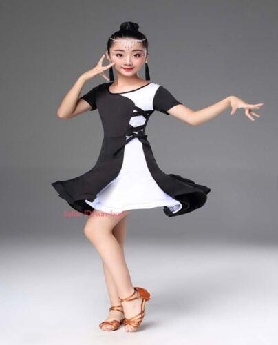 Kids Girls Latin Jazz Dance Dress Ballroom Dancewear Perform Competition Costume