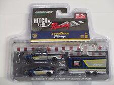 GREENLIGHT HITCH & TOW RACING * NISSAN GT-R (R35)  + FORD F-150 *  CAR HAULER
