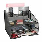 SamStar Desk File Organizer Letter Tray Holder, Mesh Desktop File Holder with 3