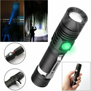Super-Bright-90000LM-LED-Tactical-Flashlight-Zoomable-With-Rechargeable-Battery