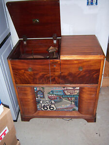 Image Is Loading Vtg NEAT HTF RARE VICTROLA Record Player Radio