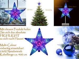 Spitze Für Tannenbaum.Tannenbaum Spitze Leuchtstern 7 Farbwechsel Led Weihnachtsbaum Stern