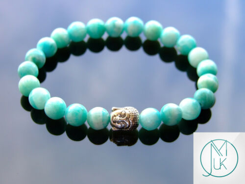 Buddha Hemimorphite Natural Gemstone Bracelet 6-9/'/' Elasticated Healing Stone