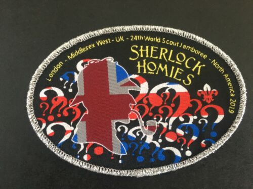 24th World Scout Jamboree 2019 Unit 20 Sherlock UK Limited Edition Patch Badge