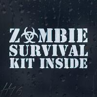 Zombie Survival Kit Inside Car Decal Vinyl Sticker For Window Panel Bumper