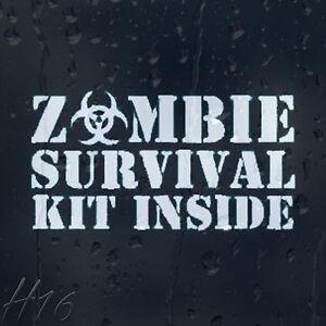 Zombie-Survival-Kit-Inside-Car-Decal-Vinyl-Sticker-For-Window-Panel-Bumper