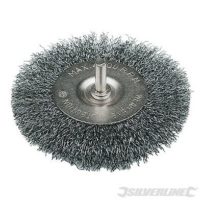 Scheibenbürste gewellt  50 mm  0,3mm   6 mm Schaft  Drahtbürste  Rundbürste