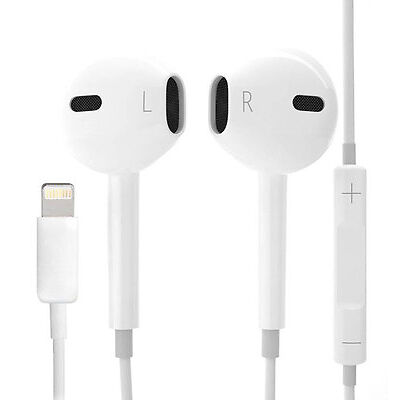 iPhone 7 iPhone 7 Plus OEM Apple Lightning White Headphone EarPods MMTN2AM/A