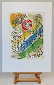 Museal-ORIGINAL-Marc-CHAGALL-Lithographie-464-Rares-EXODUS-Blatt-Anno-1966