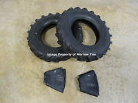 Two Deestone 6.00-14 Tractor Lug D402 Tires & Tubes 6 Ply