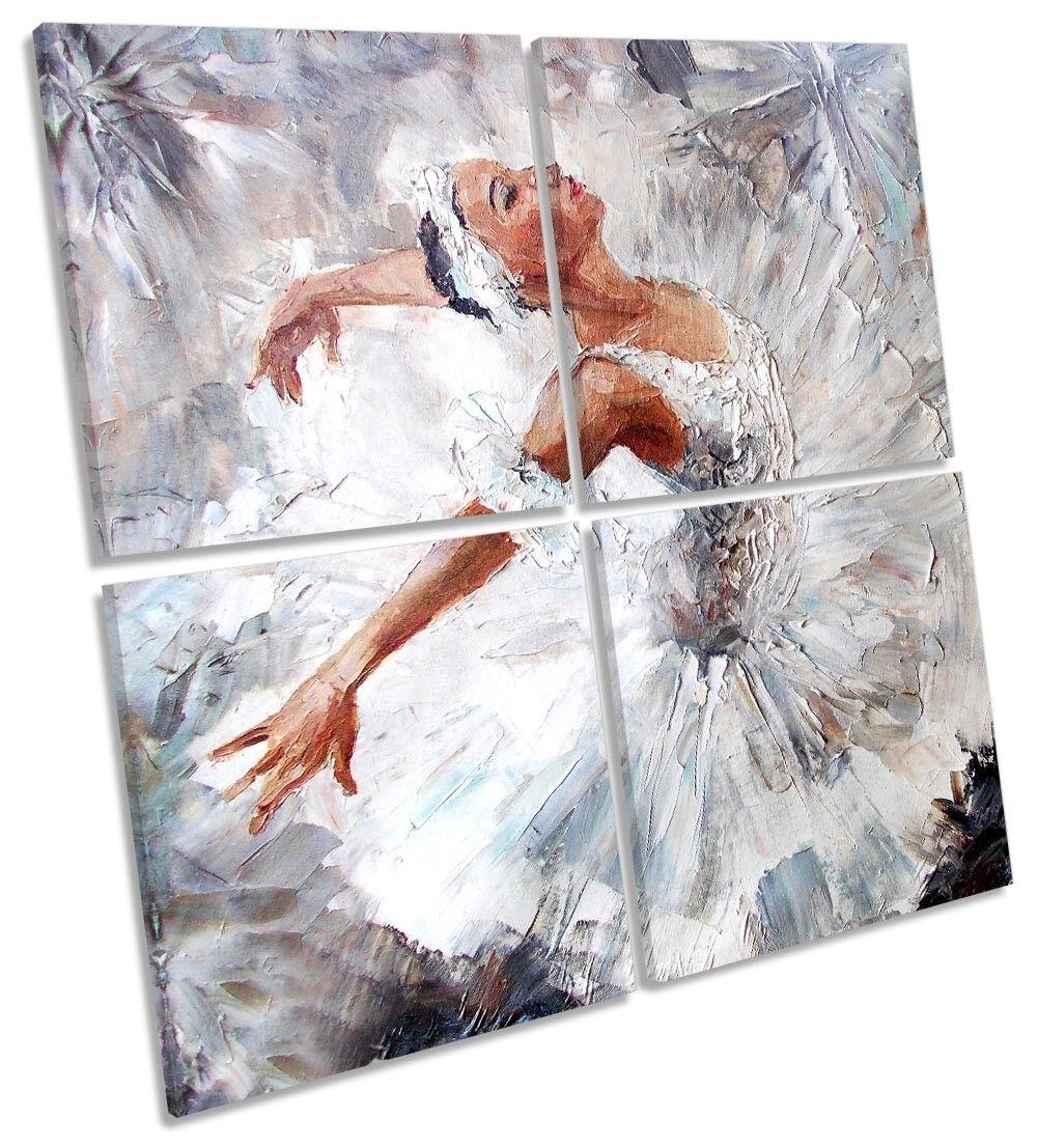 Pintura de bailarina Bailarina De Lona Pa rojo Multi  Arte Cuadrado Blanco Multi rojo Arte c0d00d