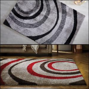 Moderne Qualitat Weich Samt Shaggy Warm To Touch Grau Braun Teppich