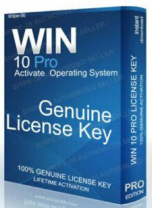 WINDOWS 10 PRO GENUINE LIFETIME ACTIVATION LICENSE KEY ...