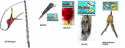 Da Bird feather wand Pull Apart cat toy Plus 4 Attachment refills