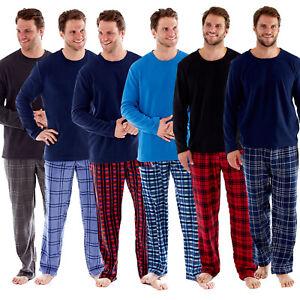 Harvey-James-Hommes-Polaire-Pyjama-Sets-Super-Doux-Carreaux-assorti-de-detente