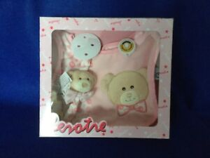 Lelly 23  Bib set with Dummy holder. PINK