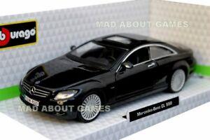 Mercedes-Benz-CL-550-Coupe-1-32-Coche-Modelo-de-Metal-Die-Cast-Diecast-Miniatura-Negro