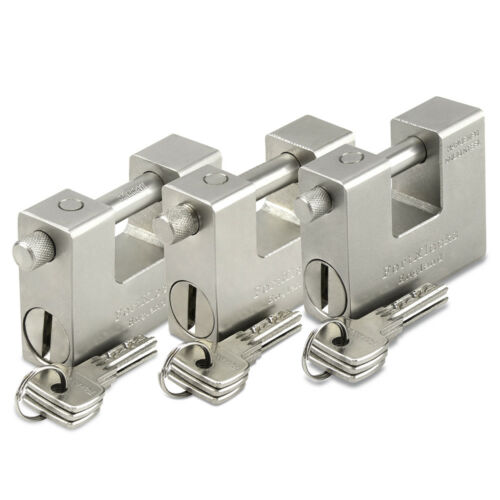 HEAVY DUTY SHIPPING CONTAINER GARAGE CHAIN PADLOCK 84MM x 10