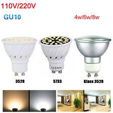 Gu10 socket Spotlight 3528 SMD Cool/Warm/White Led Bulb 4/6/8W Light 220V110V