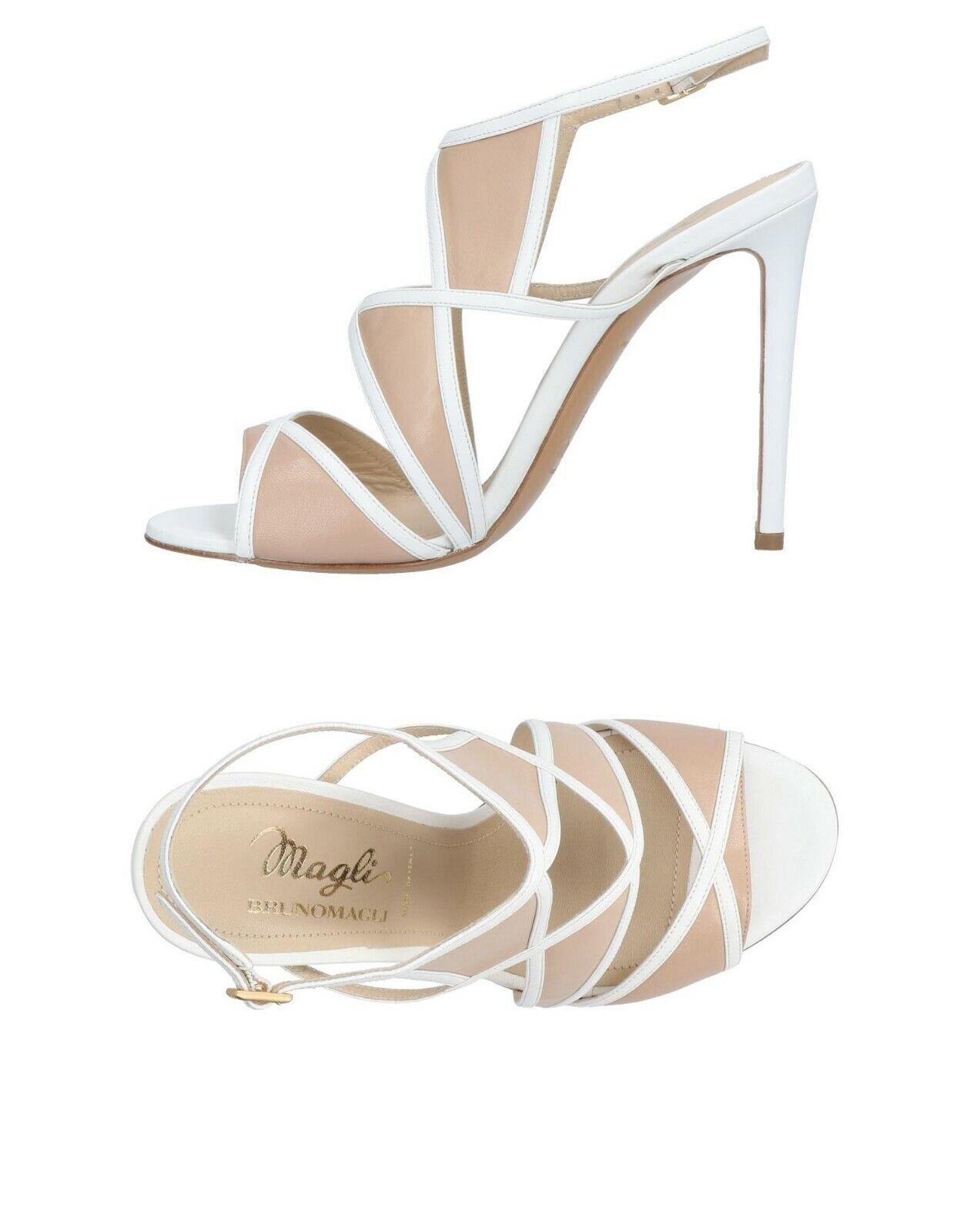 NWB   450.00 Magli Bruno Nude bianca Cutout Sandal Sz.36.5 US.6.5  Felice shopping